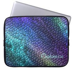 Colorful Dragon Skin Mosaic Tiles Laptop Sleeve