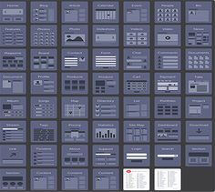 Website deck of cards, UX Kits and web design layouts by Eric Miller Design. Minimal Web Design, Web Flat Design, Ui Design, Layout Design, Design De Configuration, Wireframe Design, Web Layout, Web Design Mobile, Web Mobile
