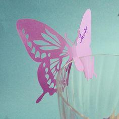 Seating Cards de mariposas, elige tú color