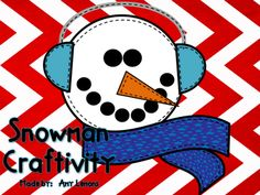 Snowman Craft --- template is made for making a bunch at once and can print on colored paper.