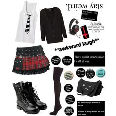 """Casual Punk!"" by toxic-raven on Polyvore; something Abby Sciuto would absolutely wear (or possibly has) #NCIS"