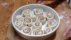 This easy quick cinnamon rolls without yeast recipe are awesome! They are made with simple everyday ingredients and done and ready to eat in an hour! Cinnamon Rolls Without Yeast, Quick Cinnamon Rolls, Round Cake Pans, Round Cakes, Baked Rolls, Cheese Danish, Pastry Blender, Soda Bread, Bread Recipes