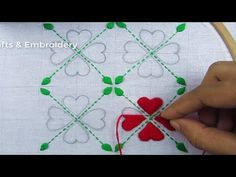 This video about: Hand Embroidery, Very Easy Nakshi Kantha Drawing & Stitching, New Nakshi Katha Design Welcome to my channel crafts & Embroidery! Hand Embroidery Tutorial, Hand Embroidery Stitches, Hand Embroidery Designs, Diy Embroidery, Embroidery Techniques, Bridal Mehndi Designs, Sewing Projects For Beginners, Embroidered Flowers, Design Crafts