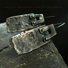 destroyed  sterling silver earrings by jolantakrajewska on Etsy, $168.00