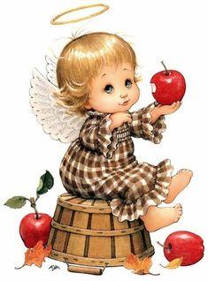 ❤️Little Angels ~ Happy Thanksgiving Angel Images, Angel Pictures, Art Pictures, Vintage Cards, Vintage Postcards, Sarah Kay, Holly Hobbie, Jolie Photo, Angel Art