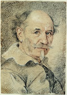 Gian Lorenzo Bernini (Naples Portrait of an Elderly Man with Mustache and Small Pointed Beard, Black, red, and white chalk. Portrait Sketches, Pencil Portrait, Life Drawing, Painting & Drawing, Trois Crayons, Romantic Drawing, Gian Lorenzo Bernini, Mustache Men, Italian Sculptors