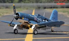 8 CH BlitzRCWorks Super F4U Corsair V2 RC Warbird Airplane - Radio Controlled Super F4U Corsair V2 Military Plane - RC Warbird
