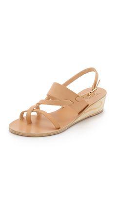 Ancient Greek Sandals Alethea Wedge Sandals - Natural | SHOPBOP.COM saved by #ShoppingIS