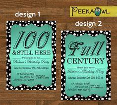 Diamond numbers 100th milestone birthday invitations by noteworthy printable diy dots 100th birthday invitation card by peekaowl filmwisefo
