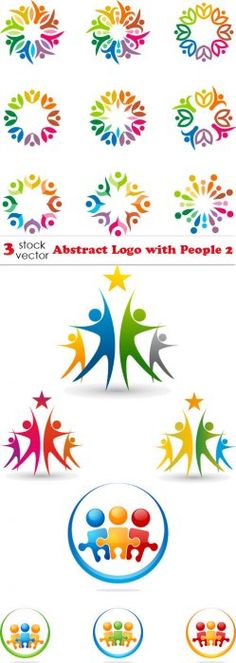 Vectors - Abstract Logo with People 2