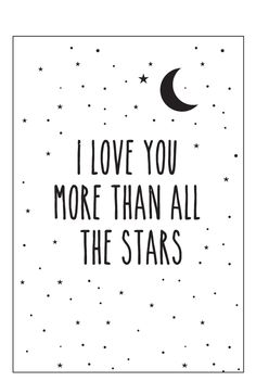 Eef Lillemor Poster - I Love You More - A3