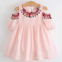 Menoea 2017 Filles Denim Robe Enfants Vêtements Automne Style Détements Papillon Broderie Robe Enfants Vê Little Girl Dresses, Girls Dresses, Summer Dresses, Baby Dresses, Cute Baby Girl, Baby Girls, Girls 4, Summer Girls, Toddler Girl