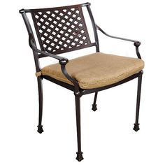 Shop high-quality contemporary and stylish home furnishings. Savannah Dining ChairDimensions: X X AluminumColor: BrownBrand: AFD HomeCountry of Ori Small Patio Furniture, Lattice Design, Oval Table, Classic Collection, Architectural Elements, Seat Cushions, Savannah Chat, Home Furnishings, Armchair