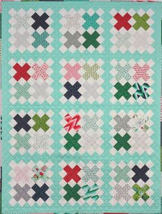 Cross Stitch Quilt Pattern | A Little Bit Biased