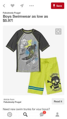782efd303f Boys Swimwear, Kids Clothing, Coupon Deals, School Supplies, Boys Shoes,  Cool