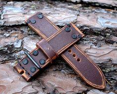 24x24mm solid vintage military  leather by VladislavKostetskyi