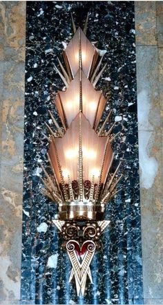 Art Deco Fisher Building Wall Lighting, Detroit, Michigan