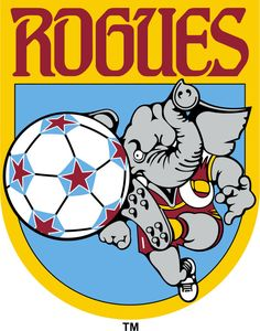 The Memphis Rogues played in North American Soccer League (NASL) from 1979 to 1980, then they moved the franchise to form the Calgary Boomers. Colors: used the 'Bama theme - red & white and a rogue elephant.