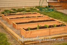Planting a Raised Garden Bed http://ana-white.com/2010/05/hack-natural-rustic-cedar-raised-beds.html