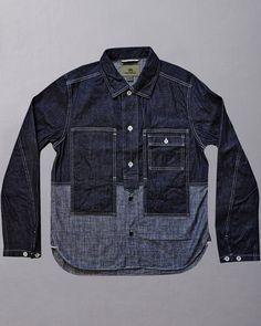 weird pockets but i like the colour block of the two denims Denim Jacket Men, Denim Shirt, Men Shorts, Men's Denim, Denim Jackets, Men's Jeans, Shirt Jacket, Denim Trends, Work Shirts