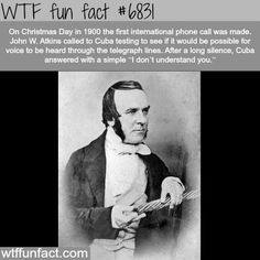 The first international phone call - WTF fun fact