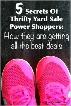 Ever wondered how your thrifty friends come home from just an hour or two of yard sale shopping with a car load full of amazing finds? Here are 5 secrets there not telling you that are helping them snag those amazing deals.