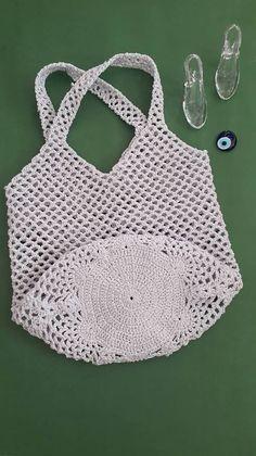 El Yapımı File Çanta - Tie Tutorial and Ideas Knitting Designs, Knitting Patterns Free, Crochet Patterns, Crochet Designs, Bag Patterns, Hand Knit Bag, Magic Bag, Crochet Market Bag, Handmade Bags