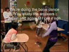 Learning the bones of the body through a clip from a Hannah Montana episode. Cute and fun for kids!!  Also, here is the link to the version without words: http://www.youtube.com/watch?v=3Waxf9KZWpM