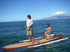 Stand Up Paddleboard, with ama.