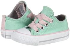a0d9666aba3a Converse Chuck Taylor All Star Double Tongue Ox (Inf Tod) - Peppermint  Toddler