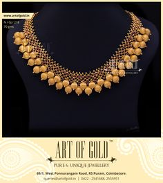 A fabulous Designer Gold Beads #necklace. Make it yours! Click to request Quote and Buy!