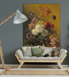 A dutch painting on your wall in a solid, luxurious aluminium frame – also in black Home Living Room, Living Room Designs, Interior Inspiration, Home Goods, Sweet Home, New Homes, Wall Decor, Decorative Paintings, Colours