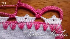 Para inaugurar o blog eu trouxe para vocês esse lindo barrado que uma senhora de 72 anos me ensinou a fazer. Ela faz esse maravilhoso trabalho à mais d