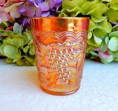 Beautiful Imperial Carnival Glass Tumbler ~ Imperial Grape ~ Marigold #Imperial