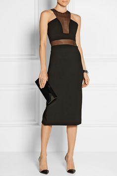 Cushnie et Ochs | Organza-paneled stretch-ponte dress | NET-A-PORTER.COM