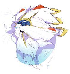 Whiskers on Kittens. Singaleo art, Pokémon sun and moon Solgaleo Pokemon, Pokemon Memes, Pokemon Fan Art, Be The Creature, Creature Design, Pokemon Champions, Whiskers On Kittens, Digimon, Amazing Art