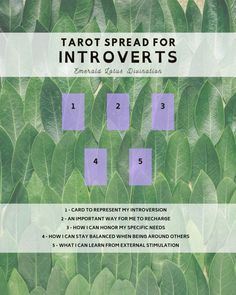 Introvert Tarot Spread — Emerald Lotus Divination Tarot Card Layouts, Tarot Card Spreads, 3 Card Tarot Spread, Tarot Cards For Beginners, Wicca Witchcraft, Wiccan Witch, Tarot Astrology, Baby Witch, Oracle Tarot