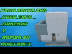 MINECRAFT :COMO HACER UNA CASA FACIL , MODERNA  Y RAPIDA/TUTORIAL - http://cryptblizz.com/como-se-hace/minecraft-como-hacer-una-casa-facil-moderna-y-rapidatutorial/