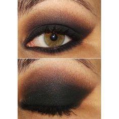 Dark eye makeup so amazing