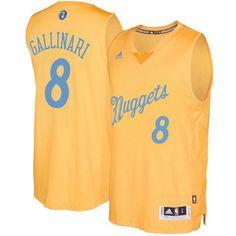 aa97b7a05df8 Nuggets  8 Danilo Gallinari Gold 2016-2017 Christmas Day Stitched NBA Jersey
