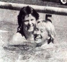 Frida and Agnetha during the 1979 tour Traveling together, enjoying the hotelpool and supporting each other on stage.