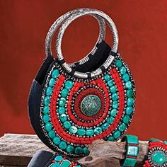Tibetan beadwork purse from Uno Alla Volta (if only it wasn't $298!)