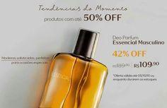 Compre online na Rede Natura o deo parfum Essencial masculino com 42% OFF. Promoção válida de 03 a 05/out ou enquanto durarem os estoques. Produtos que são tendência  Por tempo limitado. Aproveite!