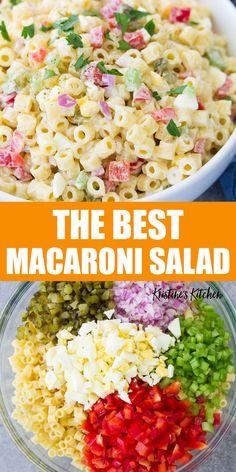 Classic Macaroni Salad, Best Macaroni Salad, Simple Macaroni Salad, Sweet Macaroni Salad Recipe, Pickle Pasta Salad Recipe, Macaroni Salad Ingredients, Homemade Macaroni Salad, Mac Salad Recipe, Hawaiian Macaroni Salad