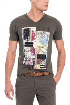 T-shirt com Print Frontal - Salsa Boys T Shirts, Jeans, Shirt Designs, Shirt Ideas, Surf, Mens Tops, Graphic Design, Clothes, Fashion