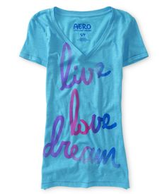 Live Love Dream V-Neck Dorm Tee - Aeropostale