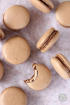 Chocolate Hazelnut Macarons | Butter Baking - they look luuuushhhhh