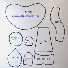 Manualidades con latas recicladas-Vaquita ~ cositasconmesh