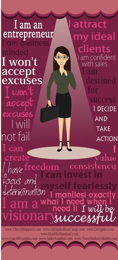 "Entrepreneur's manifesto infographic  This seems to take Hill's motto:  ""summum bonum"" and place in a language of today's successful women."