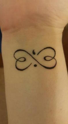 Infinity heart tattoo simple infinity heart tattoo for Greyhound ear tattoo meaning